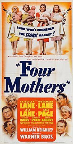 Eddie Albert, Claude Rains, Dick Foran, Lola Lane, Priscilla Lane, Rosemary Lane, Jeffrey Lynn, Frank McHugh, Gale Page, and May Robson in Four Mothers (1941)