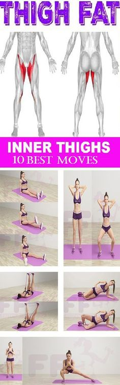Yoga Fitness Plan - 10 Moves for Terrifically Toned Inner Thighs - Get Your Sexiest.…Without crunches, cardio, or ever setting foot in a gym! Fitness Workouts, Fitness Del Yoga, Fitness Diet, At Home Workouts, Fitness Motivation, Health Fitness, Fitness Plan, Exercise Motivation, Tone Inner Thighs