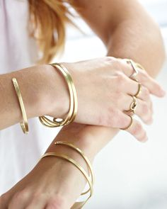 Gold Thin Jewelry #thedailylady