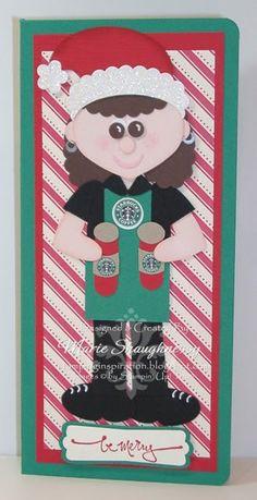 Starbucks Elf  Punch Art - bjl