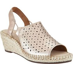 Clarks Artisan Leather Espadrille Wedge Sandals - Petrina Gail 277d577f35