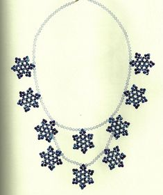 Beaded Snowflake   PATTERN necklace