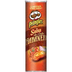 Pringles Salsa de Chile Habanero Potato Crisps, 6.38 Oz. Pringle Flavors, Pretzel Snacks, Dried Potatoes, Potato Crisps, Caramel Color, Calorie Diet, Vitamin C, Chile, Salsa