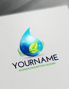 Create Your Own Eco 3D Drop Logo Free Logo Maker