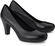 Plateau Pumps von Tamaris in schwarz für Damen. Gr. 38,39
