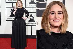 Adele elegeu um Givenchy para a noite do Grammy Awards - Foto: Getty Images