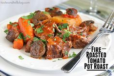 Fire Roasted Tomato Pot Roast - Uses Campbell Recipe Makers sauce