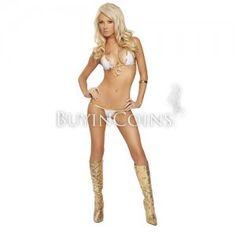 Sexy Hot Gold-White Fashion Bikini Lingerie Set $22.99