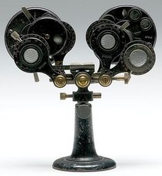 DeZeng Phoroptor, early 20th century, brass and cast iron phoroptor
