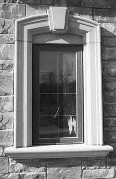 Stone sills around exterior windo home exteriors for Exterior window sill design
