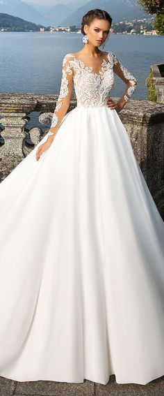 Featured Dress: MillaNova;www.millanova.com; Wedding dress idea.