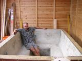 how to make a concrete hot tub