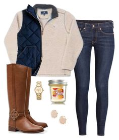 """""""Riding horses tomorrow"""" by ambermillard ❤ liked on Polyvore featuring H&M, Tory Burch, Kendra Scott, J.Crew, women's clothing, women's fashion, women, female, woman and misses"""