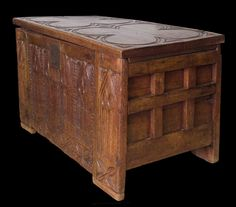 Late 14th century carved chest