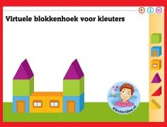 Virtuele blokkenhoek voor kleuters op digibord of computer op kleuteridee.nl - Kindergarten math for IBW or computer Kindergarten Online, I Love School, Lego Duplo, Preschool, Deck, Creative, Home Decor, Lego Duplo Table, Decoration Home