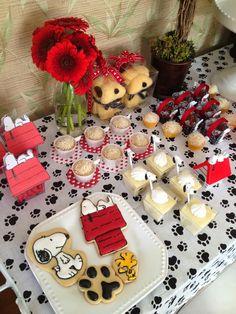 Festa Snoopy para Carol - Snoopy Party - Peanuts Party   I Love Valentina
