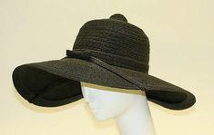 Womens's Hat - Emme, Inc. for Neiman Marcus (retailer) - American - 1950. Straw. The Met