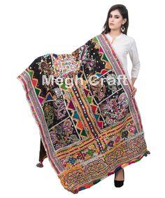 Vintage Wool Embroidered Dhabli Rabari Shawl -Vintage Rabari wedding shawl