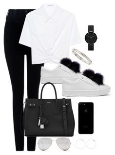 Untitled #3658 by theaverageauburn on Polyvore featuring T By Alexander Wang, Citizens of Humanity, Sam Edelman, Yves Saint Laurent, Newgate, Cartier and Sunny Rebel