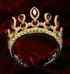 Russian ruby tiara - I love this!! My FAVORITE of all the tiaras I have on here!!