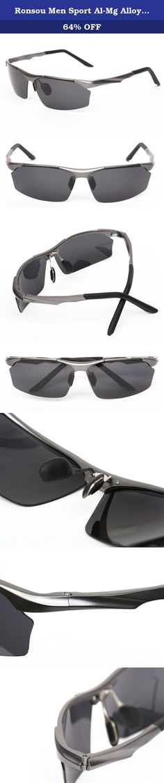 Ronsou Men Sport Al-Mg Alloy Frame Polarized Sunglasses Fashion Driving eyewear gray frame/gray lens. The Sunglasses are Fashion Cool design;Target User for Fishing, Golf, Cycling, Running, Driver Sunglasses and all Active Outdoor lifestyles! Package includes: 1x polarized sunglasses 1x sunglasses case 1x sunglasses paper box 1x Gift bag 1x Lens cloth 1x sunglasses bag 1x glasses screwdriver 1x polarized testing sheet -Spring assisted hinge make these sunglasses comfortable to wear, even…
