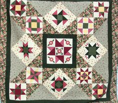Joanns Legacy Star Sampler Quilt Full /Double 79 X 79. $225.00, via Etsy.