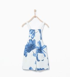 Image 3 of Flower print dungarees from Zara