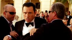 """[voice-over] """"Pretending to be a belligerent drunk lets you get close to a target long enough to plant a tracker without them getting suspicious. Of course, if you plan on making a scene at a fancy hotel, you'd better be ready to pay the price."""" [Michael Westen]   Pictured: Michael Westen (Jeffrey Donovan)"""