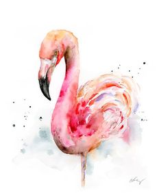 "11""x14"" unframed original watercolor painting of a flamingo, inspired by my recent visit to the zoo. The pink hue is impressive to see in real life. Original painting is painted on Arches 140lb cold press watercolor paper. Originals show artist's light pencil markings and subtle ""imperfections"" that make the painting truly one of the kind. Any ""seewhyzhang"" watermark in images will not show in the actual painting. This painting arrives assembled in a white m..."