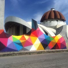 Artist: Eduardo - more @ www. Kobra Street Art, Murals Street Art, Beautiful Architecture, Art And Architecture, Graffiti, Okuda, Amazing Buildings, Sidewalk Chalk, City Art