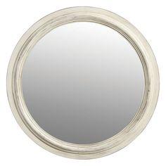 Ce miroir rond à l'encadrement en bois blanc patiné trouvera sa place sur les murs de votre salon ou de votre chambre. Son doux design pourra s'harmoniser avec une décoration romantique ou classique.