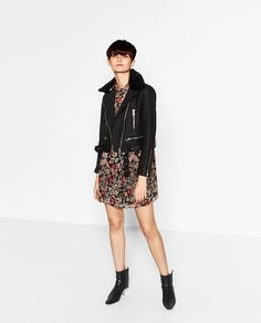 Image 1 of LEATHER EFFECT JACKET from Zara