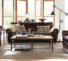 Webster Leather Sofa #potterybarn