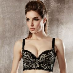 a33e1700a3df3 Flower Pattern Lace Push-Up Adjustable Bra