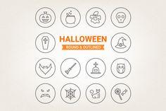 Circle Halloween icons by miumiu on Creative Market
