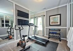 A home gym can be a great convenience. However, coming up with the perfect home gym design to suit personal preferences can be a challenge. The best home gym design increases the chance of… Dream Home Gym, Gym Room At Home, Home Gym Decor, Best Home Gym, Workout Room Home, Workout Rooms, Workout Room Decor, Home Exercise Rooms, Small Home Gyms