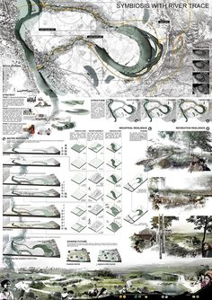 Landscape Sketch, Landscape Design Plans, Parque Linear, Presentation Board Design, Presentation Techniques, Ecology Design, Architecture Graphics, Graphic Design Tips, Sample Boards