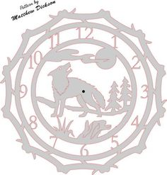 Wolf Clock Scene