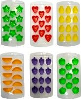 Platex Multicolor Silicone Ice Cube Tray Set