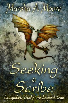 Seeking a Scribe: Enchanted Bookstore Legend One, the first of a 5-part epic fantasy romance adventure.  Lyra McCauley is a writer and loves fantasy novels, but until she opens a selection from bookstore owner Cullen Drake, she has no idea he's a wizard character who lives a double life inside that volume…or the story's magic will compel her from the edge of depression to adventure, danger, and love.   Ebook available http://www.amazon.com/dp/B007JVYSSI