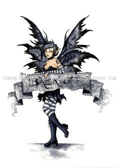 Amy Brown Artist Sticker - Fairies/Fantasy - Back Off Amy Brown Fairies, Dark Fairies, Fantasy Fairies, Fairy Tattoo Designs, Fairy Pictures, Fantasy Pictures, Gothic Fairy, Love Fairy, Fantasy Dragon