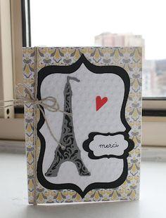 Paris Eiffel Tower Thank you Cricut Card