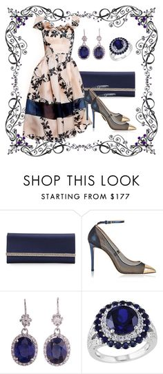 """Baroque"" by marocaine-evazahourova ❤ liked on Polyvore featuring Judith Leiber, Victorio & Lucchino, Jimmy Choo and Amour"