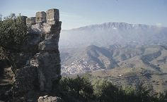"""CASTLES OF SPAIN - Bentomiz Castle, near the village of Arenas, Málaga, The castle site is thought to have been occupied by the Phoenicians, Greeks and Romans. The Arabs built on the existing structure. When Ferdinand II of Aragon reached the area, the Granadan Sultan """"El Zagal"""" brought a force to oppose them which he stationed  around the Bentomiz castle The Moors attacked the Christian siege train during the night of 25 April 1487 but were repulsed, and in panic retreated towards Granada."""