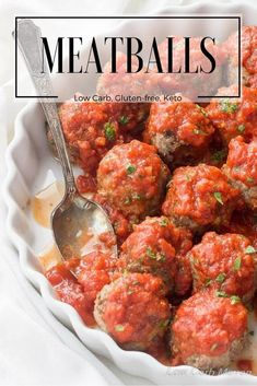 Easy low carb meatballs made in the Italian style can be baked or pan fried. This recipe is gluten-free and good for keto diets. Great healthy dinner idea!