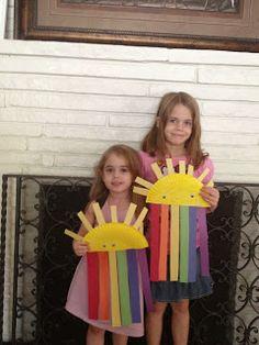 cutest litlte sunshine and rainbow craft!