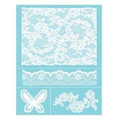 Pochoirs adhésifs Silkscreen - A4 - Antique Lace