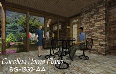 images of small craftsman cottage see floorplan views and images of small craftsman contemporary open floor home plan for easy selection. 3d House Plans, Porch House Plans, Craftsman Cottage, Open Floor, Porches, Floor Plans, Patio, Flooring, How To Plan