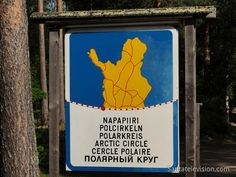 Photo: Lapland in Finland crossed by Arctic Circle line - Arctic Circle sign in Finnish Lapland Santa Claus Village, Alaska, Salmon Fishing, Photos Voyages, Arctic Circle, Reindeer, Stuff To Do, Nostalgia, Healthy Eating