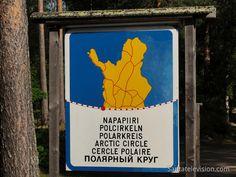 Lappi ja Napapiiri-kyltti